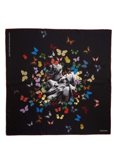 Valentino Undercover Butterfly Silk Scarf