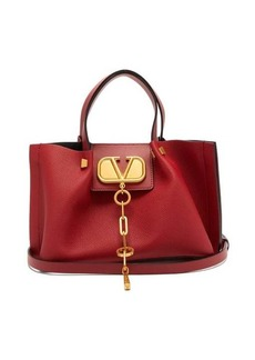 Valentino V-Chain Escape small grained-leather tote bag