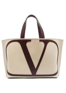 Valentino V Logo canvas tote bag