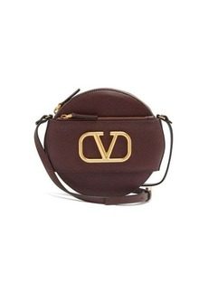 Valentino V-Logo circular leather cross-body bag