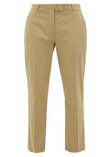 Valentino V-logo cotton-gabardine cigarette trousers