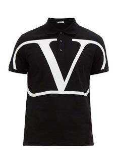 Valentino V-logo cotton-piqué polo shirt