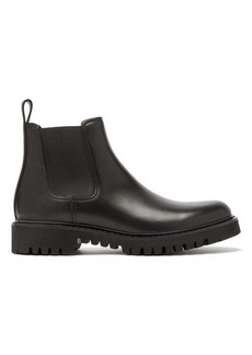Valentino V logo-debossed leather Chelsea boots