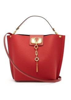 Valentino V-Logo Escape grained-leather tote bag