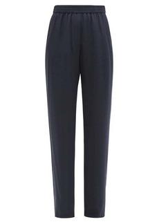 Valentino V-Logo jacquard crepe trousers