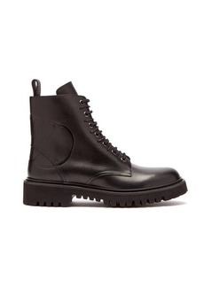 Valentino V-Logo lace-up leather boots