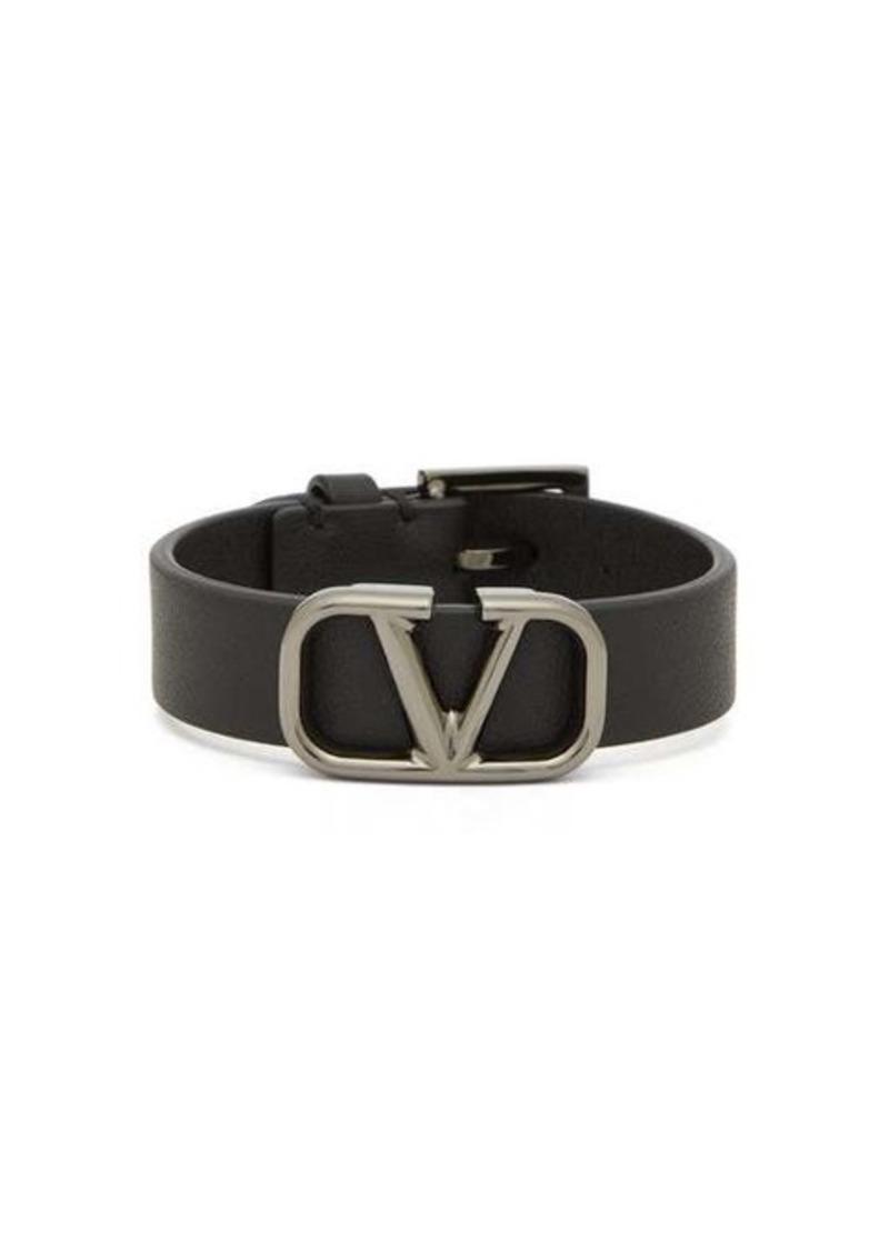 Valentino V-logo leather bracelet