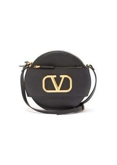 Valentino V-logo leather cross-body bag