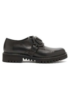 Valentino V-logo leather derby shoes