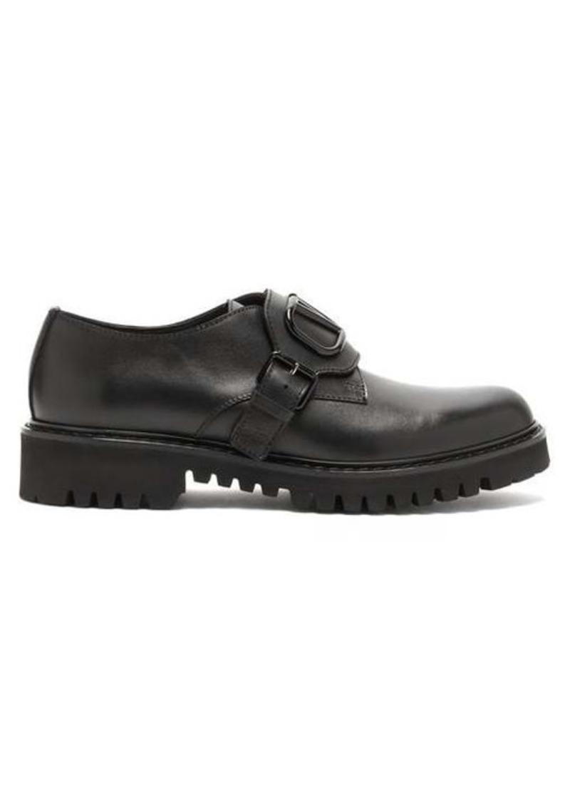 Valentino V-logo leather derby shoes