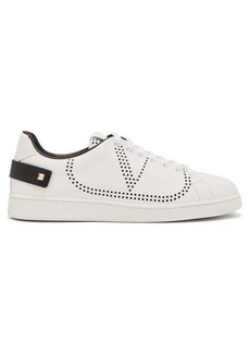 Valentino V-logo perforated leather trainers