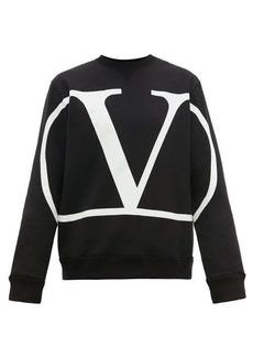 Valentino V-logo print cotton-blend sweater