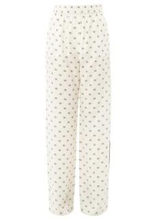 Valentino V Logo-printed crepe pyjama trousers
