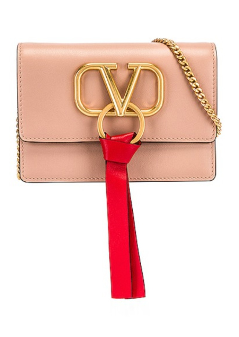 Valentino VLogo Ribbon Crossbody Bag