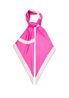 Valentino Garavani V-logo silk-twill scarf