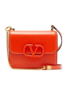 Valentino V-logo small leather shoulder bag