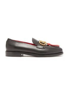 Valentino V-logo tasselled leather loafers