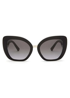Valentino V-plaque square acetate sunglasses