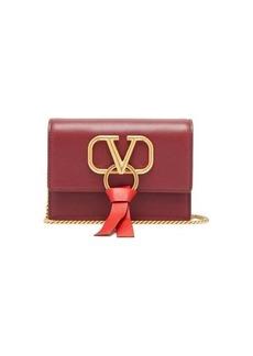 Valentino V-ring leather crossbody bag