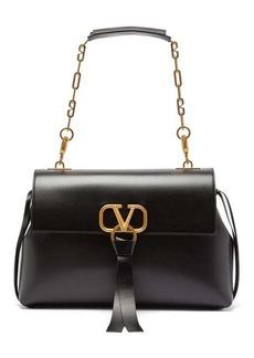 Valentino V-ring medium leather shoulder bag