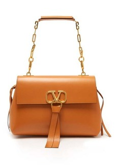 Valentino V-ring medium leather shoulder bag