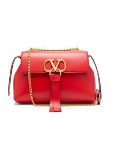 Valentino V-ring small leather shoulder bag