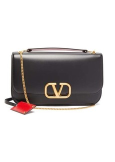 Valentino V-Ring medium smooth-leather shoulder bag