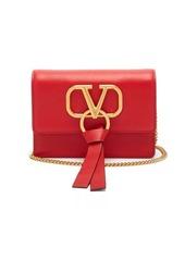 Valentino V-ring mini leather cross-body bag