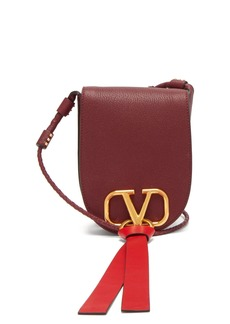 Valentino V-ring small leather cross-body bag