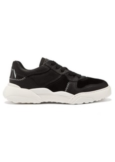 Valentino V-Slam leather and suede trainers