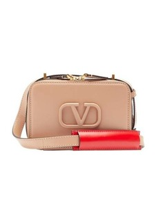 Valentino V-sling small leather cross-body bag