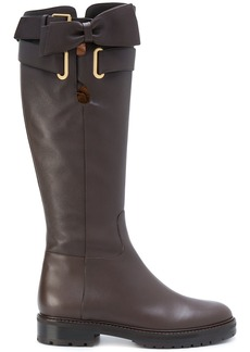 Valentino Valentino Garavani bow wrap boots - Brown