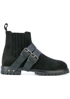 Valentino Valentino Garavani buckle strap detailed boots - Black