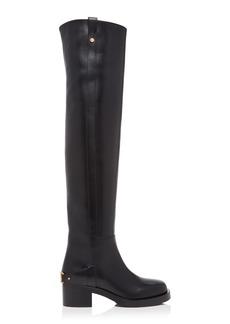 Valentino Valentino Garavani V-Troop Over-The-Knee Leather Boots