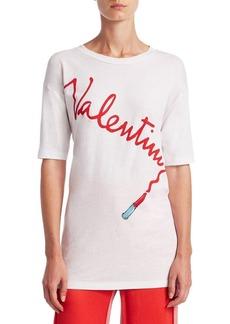 Valentino Logo Lipstick Tee