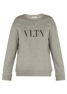 Valentino VLTN logo-print cotton-blend sweatshirt