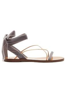 Valentino Velvet flat sandals