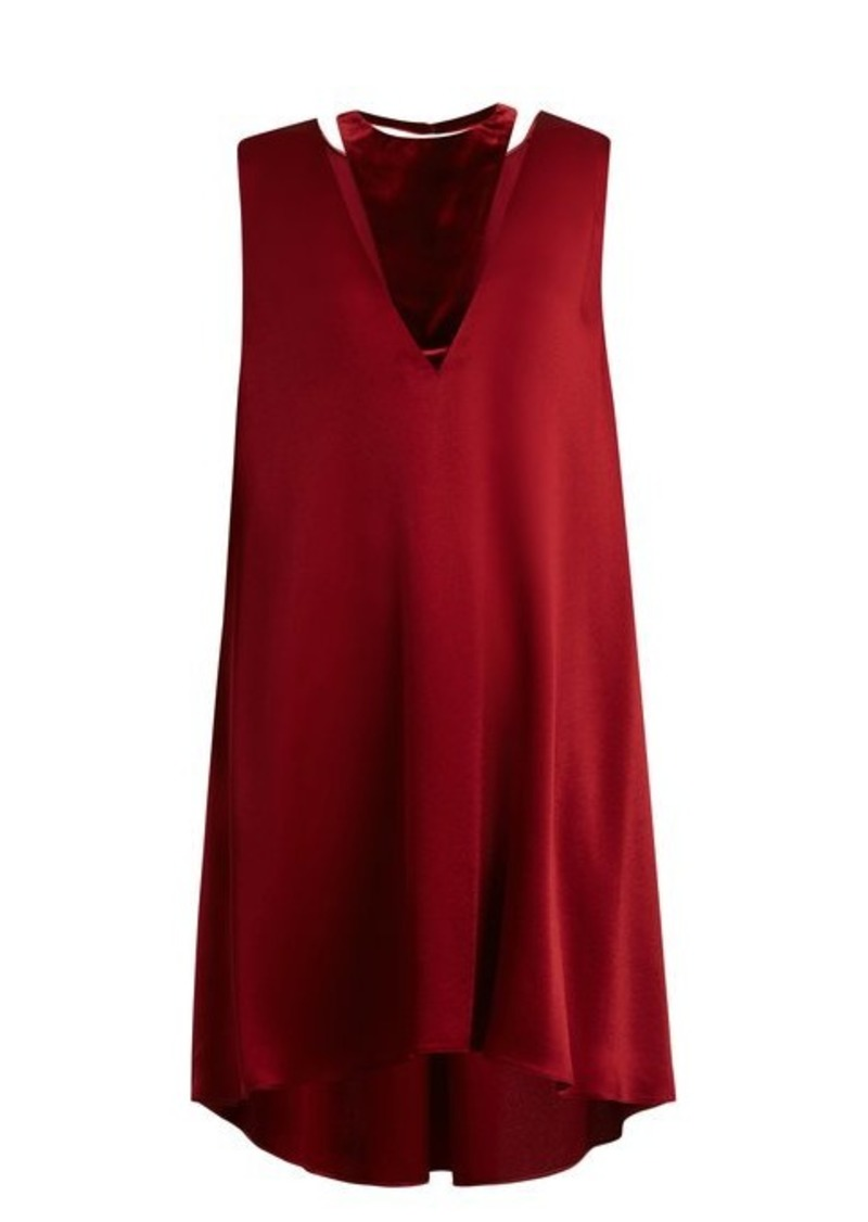 Valentino Velvet-panel satin dress