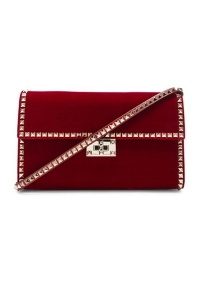 9ac392c2440 SALE! Valentino Valentino Velvet Rockstud No Limit Shoulder Bag