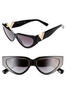 Valentino VLOGO 54mm Cat Eye Sunglasses