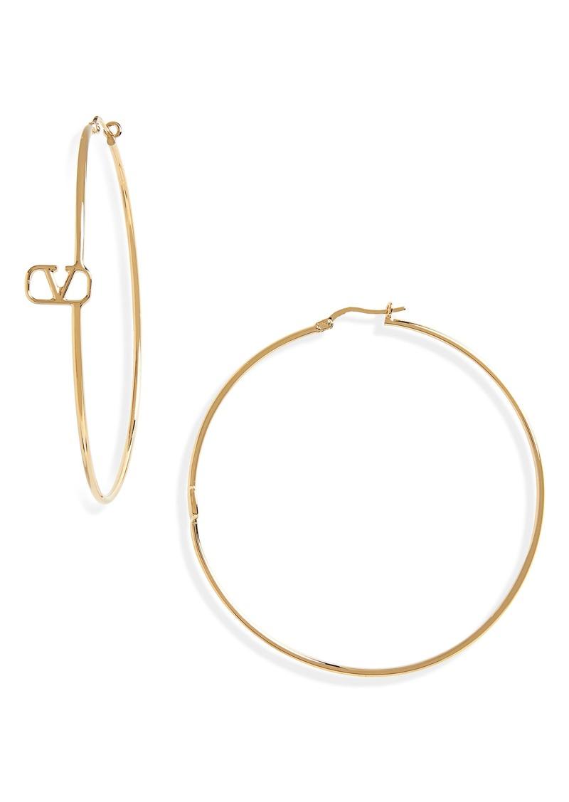 Valentino VLOGO Hoop Earrings