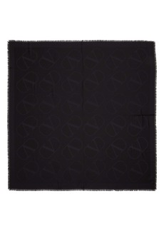 Valentino VLOGO Jacquard Silk & Wool Scarf