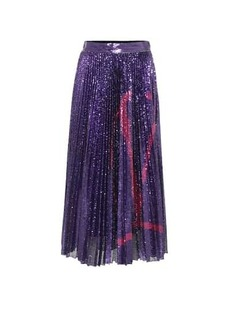 Valentino VLOGO sequined midi skirt