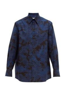Valentino VLTN camouflage-print cotton shirt