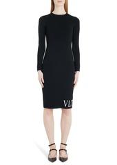 Valentino VLTN Logo Long Sleeve Sweater Dress