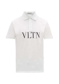 Valentino VLTN logo-print cotton-piqué polo shirt