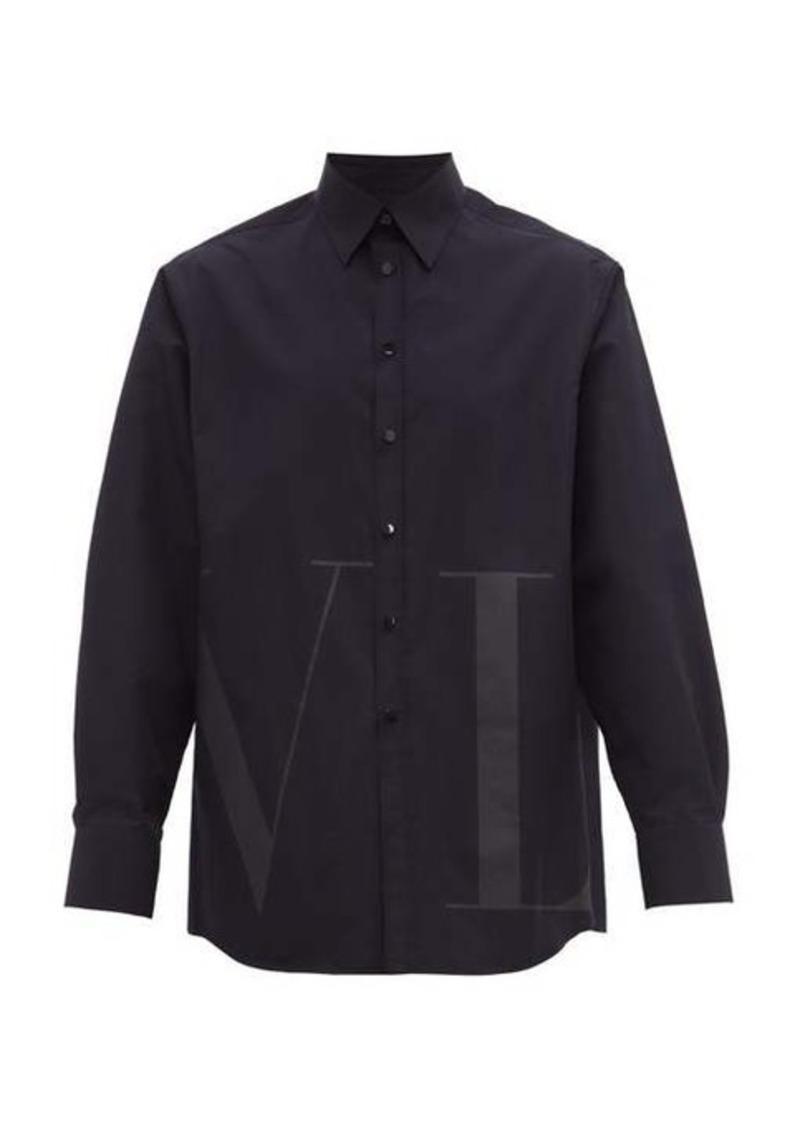 Valentino VLTN-printed cotton-blend shirt