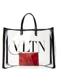 Valentino VLTN PVC tote bag
