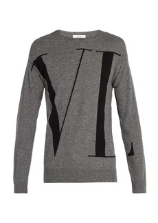 Valentino VLTN wool and cashmere-blend sweater