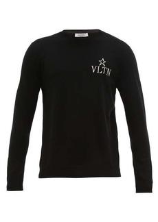 Valentino VLTNSTAR logo-intarsia wool-blend sweater